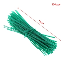 Get more info on the 300pcs Green Gardening Vine Climbing Plants Cable Tie Lines Plant Brackets Parts Bonsai Flower Cucumber Grape Rattan Supports