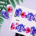 12 шт. абстрактный дизайн изображения змея водные переводки для ногтей Цветочные наклейки для ногтевого дизайна Набор для украшения ногтей ...