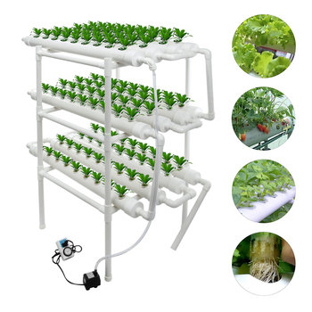 Sistema de crecimiento hidropónico, Equipo de cultivo para la familia sin gas, balcón, tipo de tubería sembradora de vegetales, soporte automático de flor hidropónica