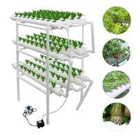 Sistema de crescimento hidropônico soilless cultura equipamentos família varanda tipo tubulação vegetal plantador automático hidropônico flor suporte