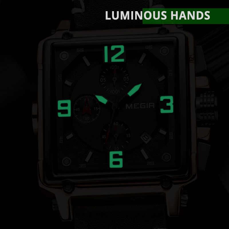 Quartz hommes montre haut marque de luxe MEGIR chronographe Sport montres hommes horloge armée militaire montres Relogio Masculino montres