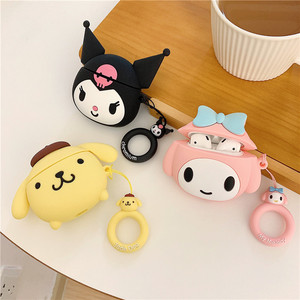 Image 1 - Bluetooth Earphone Case for Airpods 2 Accessories Protective Cover with Ring Strap case for airpods Cute Silicone Melody Design