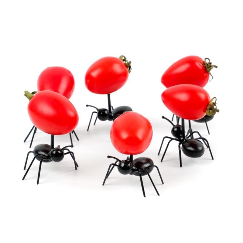 3/6/12 шт./компл. мини Ant фруктовые вилки пластикового Десертные Вилки для торта приборы для еды посуда для вечерние украшения снэк-Аксессуары
