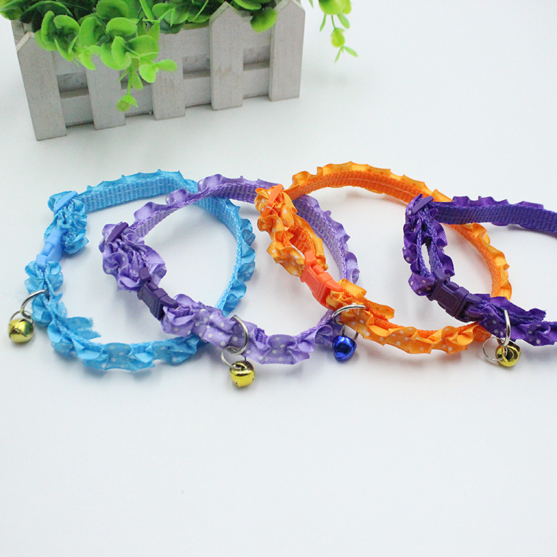 Special Offer Currently Available Wholesale Lace Pet Collar 1.0 Cm Four Colors Dog Collar Export Quality Assurance