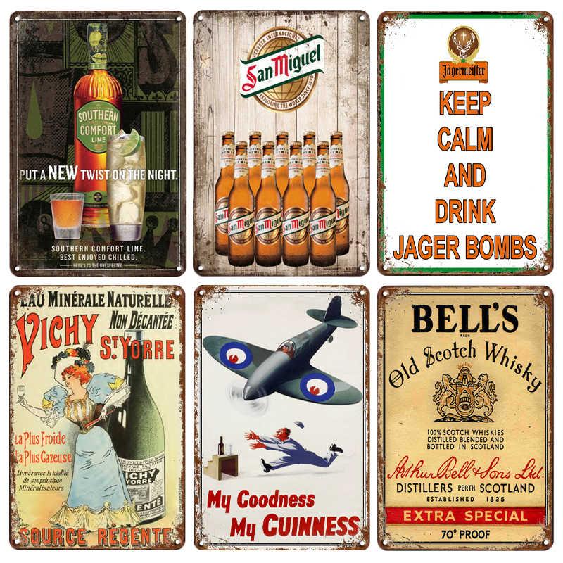 STELLA ARTOIS SAN MIGUEL CORONA Retro Vintage metalowy znak Pub Bar dekoracje ścienne metalowe reklama obraz plakat