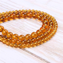 Wholesale Ocher Glass Natural Stone Beads Round Beads Loose Beads For Making Diy Bracelet Necklace 4/6/8/10/12MM