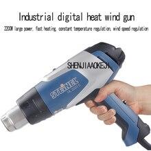 1 шт., HL-2020E, цифровой дисплей, фена, ручной, регулируемый, для поддержания температуры, фена, пластиковый фен строительный, 220 В