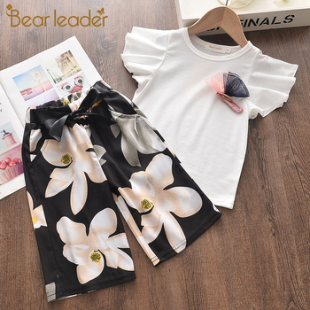 Bear Leader Girls Clothes Set 2020 Summer Children Clothing Short Sleeve T-shirt and Print Shorts 2 Pcs Girl Kids Clothes Suit sodawn 2017 brother sister clothes summer new children clothse boysgirls lattice short sleeve shorts suit boy girls clothing set