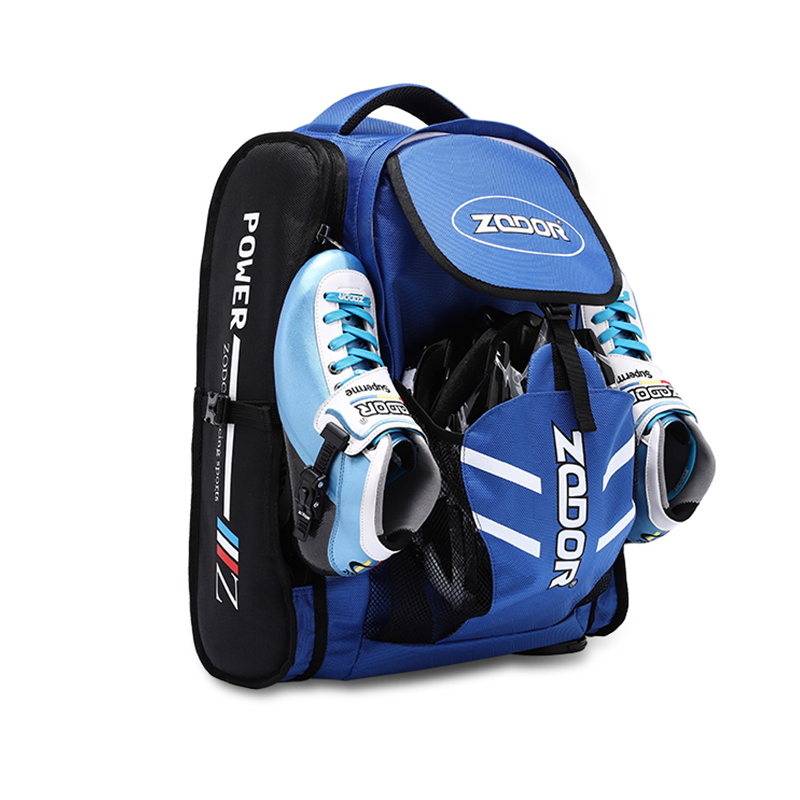 Original ZODOR Speed Skates Patines Carrier Daily Waterproof Skates Backpack 4x90 4x100 4x110 Skating Bag Blue Red Container