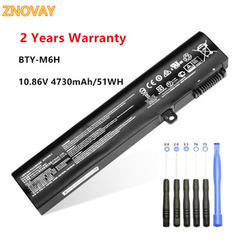 цена на 10.86V 51WH BTY-M6H Laptop Battery Fit for MSI GE70 GL62M GL72 GE72VR MS-16J3 MS-16J4 MS-16J6 MS-1792 MS-1795 MS-16J5L Notebook