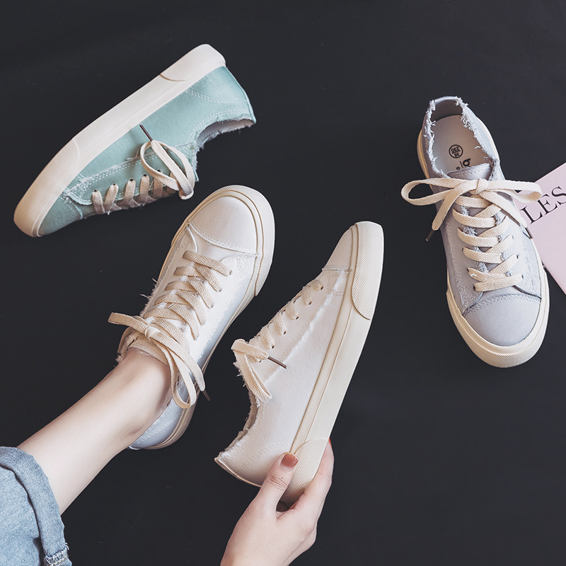 Fashion Women Canvas Shoes Casual Shoes Straberry Cuty Sweet Low Lace-up Flat Breath Freely Summer Shoes
