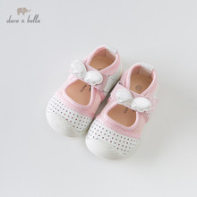 DB13757 Dave Bella spring baby girl white bow shoes children brand casual shoes