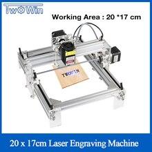 Grande Laser di Potenza 15W Desktop di FAI DA TE Viola Laser Macchina Per Incidere Immagine Stampante CNC Area di Lavoro 20cm x 17cm Router di CNC Incisore