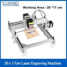 Große Power Laser 15W Desktop DIY Violet Laser Gravur Maschine Bild CNC Drucker Arbeits Bereich 20cm x 17cm CNC Router Stecher