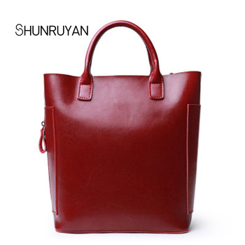 SHUNRUYAN 2018 Fashion Crocodile Leather Women for Bag Shoulder Bags Solid Casual Tote Bag Ladies Large Capacity Business Bag