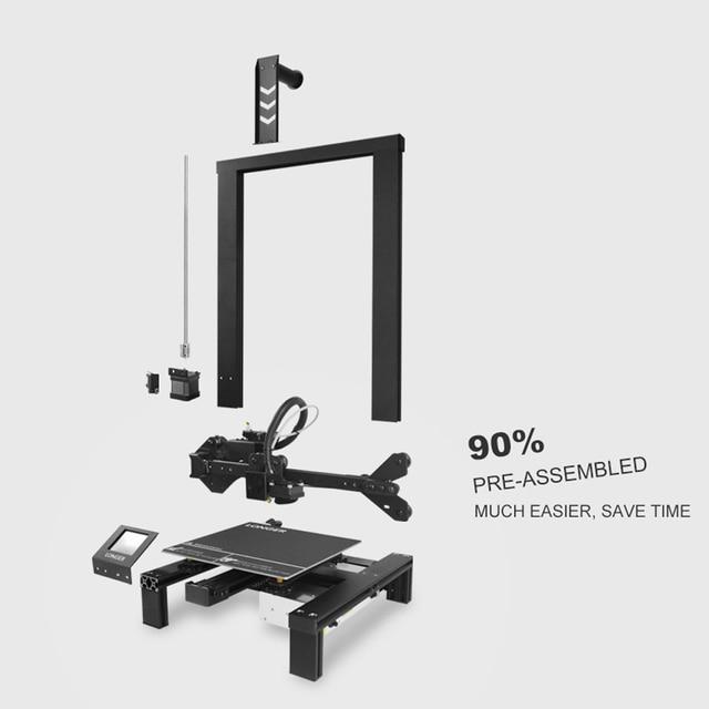 LONGER LK4 3D Printer Touch Screen 3D Print with Unique Frame Design Resume Printing Safe Power Supply 3D Printer Kit 3