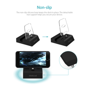 Image 4 - dodocool MFi Certified Charging Dock Station Holder Stand with 3.5 mm Audio Jack 3.3ft USB Cable for iPhone Series