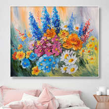 Abstract Watercolor Flower Painting Wall Art Decor Canvas Posters And Prints Floral Pictures For Living Room Decoration Mural недорого