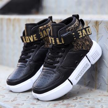 2021 marka Sneakers dzieci sportowe buty Outdoor wodoodporne buty do biegania dla chłopców dorywczo chłopiec kosz buty Plus futro zimowe ciepłe obuwie tanie i dobre opinie vinsinw Unisex Buty do koszykówki CN (pochodzenie) Wszystkie pory roku RUBBER