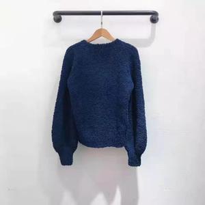 Image 2 - 2019 autumn winter runway women pullover red pink dark blue lady fashion jumper winter female sweater