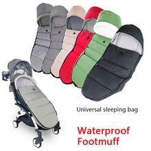 Купить с кэшбэком Universal Baby Carriage Winter Socks Sleep Bag Windproof For Yoya Yoyo Stroller Warm Footmuff Cover Baby Stroller Accessories
