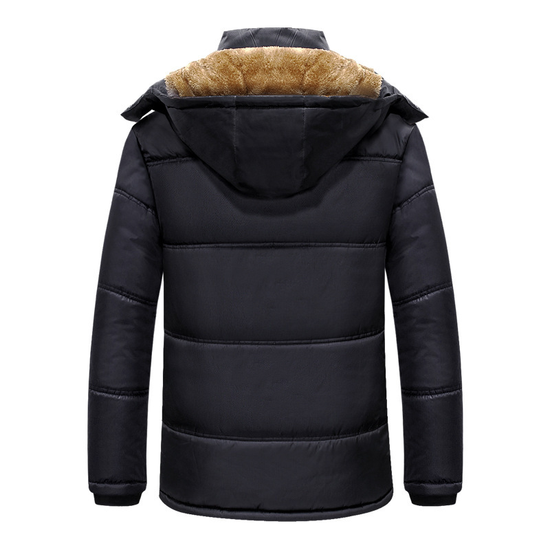 Autumn & Winter New Style Men Deconstructable Hooded Brushed And Thick Down Jacket Cotton-padded Clothes Large Size Casual Cotto