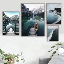 Настенная картина с природным ландшафтом постер на холсте в