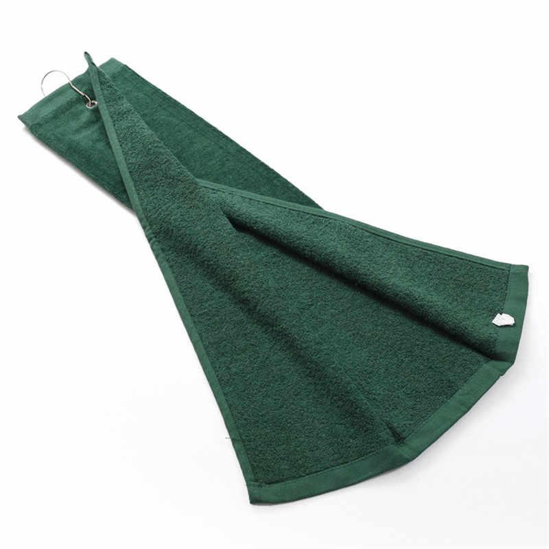 Abitudine fare 40*60cm 100% cotone asciugamani da golf con gancio del sacchetto di sport asciugamano da bagno di viaggio palestra viso panno per il viso asciugamani toalha de esportes liberi di