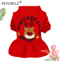 Dog Clothes Cute Cartoon Christmas Yorkshire Cat Skirt Teddy Clothes Pet Clothes Pomeranian Clothes Winter