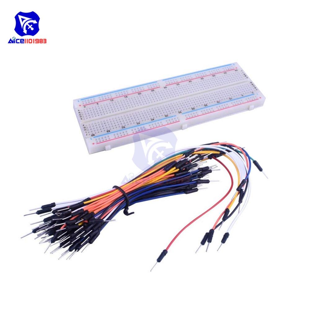 10pcs 65pcs Jumper Wire Câble Kit Pour Sans Soudure Breadboard nouveau
