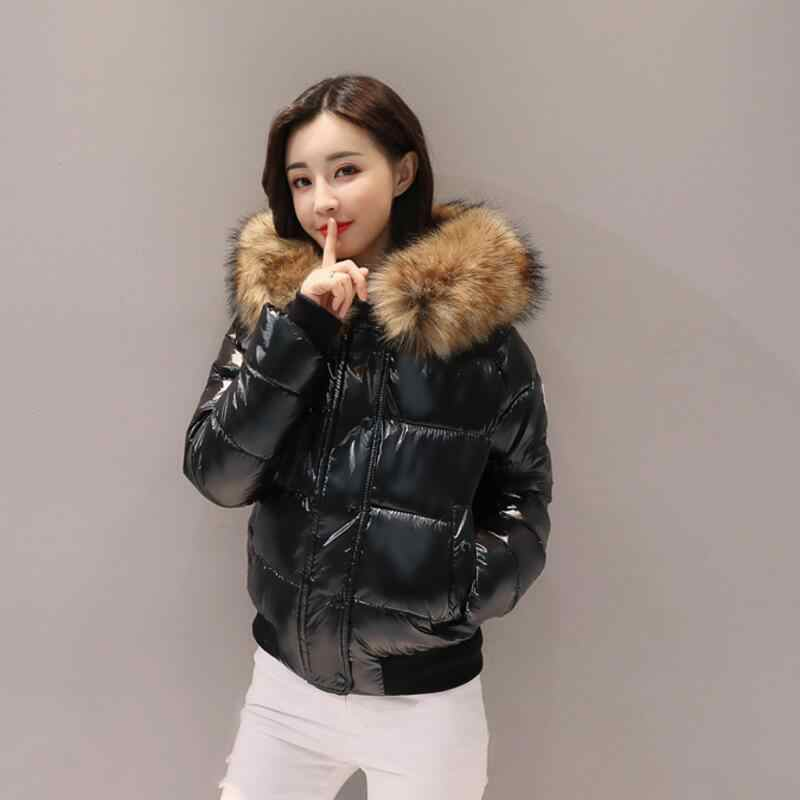 New 2019 Brand Women Winter Jacket fur Collar Female Basic Jacket short Outerwear Winter warm waterproof Coat chaqueta mujer