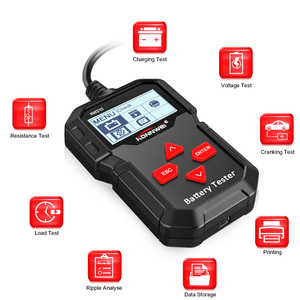 Image 2 - KONNWEI KW210 Car Battery Tester Analyzer For 12V Vehicle Auto Diagostic Charging Cranking Tools Charging System Regualr Flooded