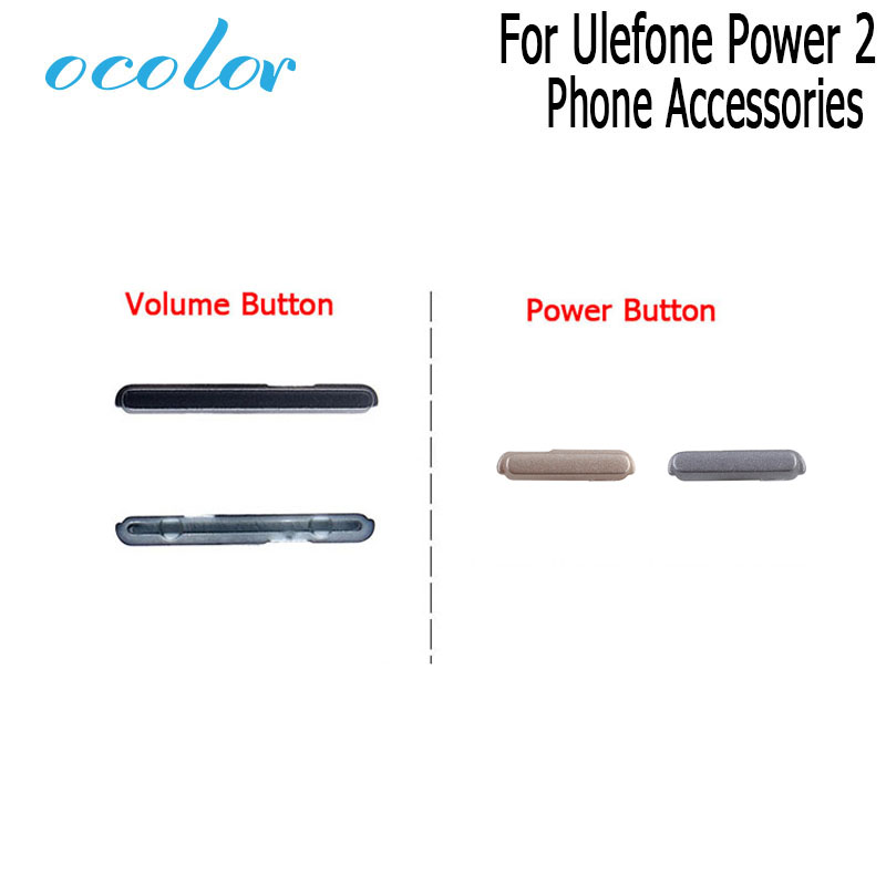 Ocolor For Ulefone Power 2 Volume Button 100% New Repair Parts For Ulefone Power 2 Power Button High Quality Phone Accessories