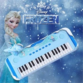 Disney Girls Frozen Princess 37 Type Door Keyboard Piano Toy Singing Music Playing Piano Girl Toy Educational Toy  X5261