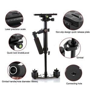 Image 5 - S40/S60/S80 עוזר צלם 40 CM/60 CM/80 CM אלומיניום Steadicam כף יד מייצב + נשיאה תיק עבור DSLR וידאו מצלמה צילום
