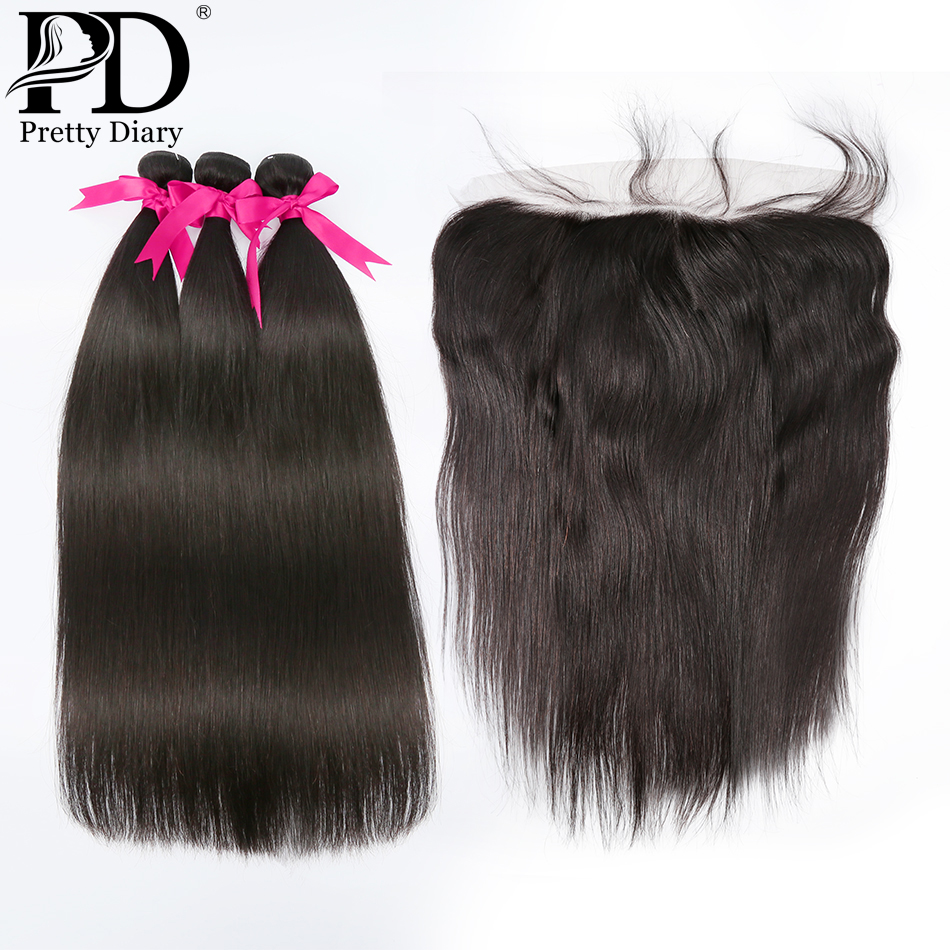 26 28 30 40 pouces cheveux brésiliens armure faisceaux avec fermeture frontale 13x4 13x6 dentelle frontale avec cheveux raides paquets Remy cheveux