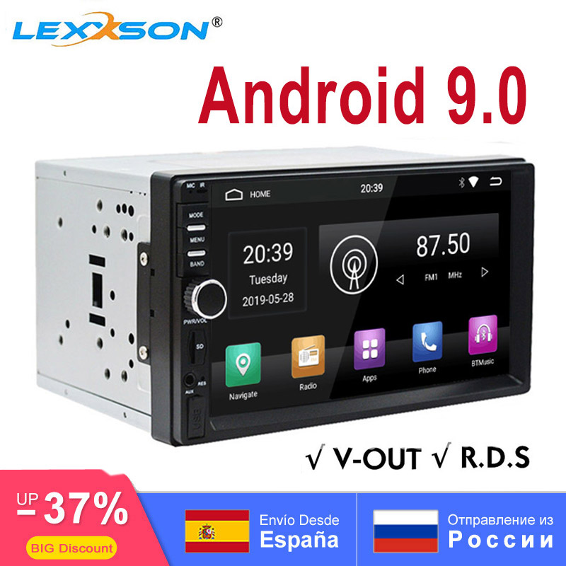 Single 1Din Android 8.1 Flip Out Car Stereo Radio GPS Navi Player 4G Wifi OBD2