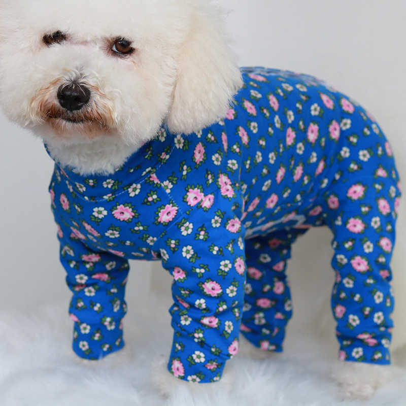 Pet Dog Jumpsuit Puppy Clothes 100%Cotton Overalls For Small Dogs Pajamas Protect Belly Long Sleeve Sweatshirt Chihuahua Poodle
