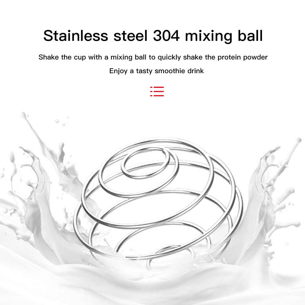คุณภาพสูงสแตนเลสปัดบอลผสมShakerโปรตีนฟิตเนสน้ำขวดน้ำผลไม้เครื่องผสมนมสะดวกเครื่องดื่มGadget