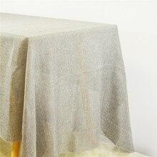 Burlap Tablecloth Imitation-Linen Wedding Cotton Christmas Home-Decor Khaki Gray Country-Style