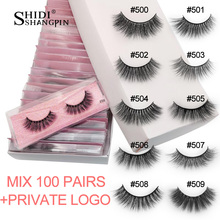 wholesale bulk mink eyelashes 20/30/40/50/100 pairs natural false eyelash extension fluffy 3d faux lashes cruelty free makeup