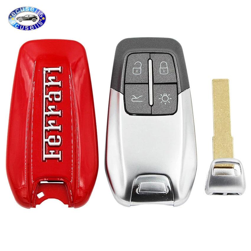 Luxury Remote Key Shell Case Fob For Ferrari 458 588 488gtb La Ferrari With Logo Car Key Aliexpress
