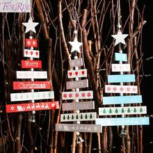 FENGRISE Christmas Wooden Pendant Merry Decoration For Tree Ornaments 2019 Xmas Decor Happy New Year