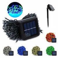 200 LED Solar String Fairy Lichter Im Freien Wasserdichte Beleuchtung Garten Weihnachten Girlande 8 Modus Solar Powered Lampe Fee Licht 22M