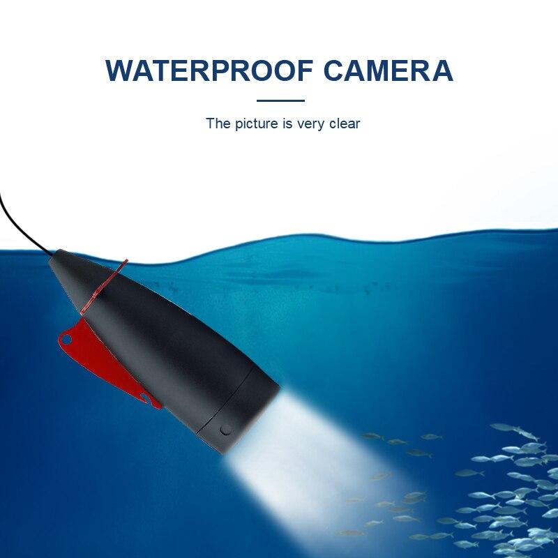 1000TVL 4,3 дюйма 15 м кабель рыболокатор 8 шт. Белый светодиодный регулируемый светильник для подводной съемки камера для рыбалки с ЖК-монитором Fishfinder