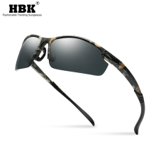 HBK Semi Rimless Camouflage Mens Sports Sunglasses