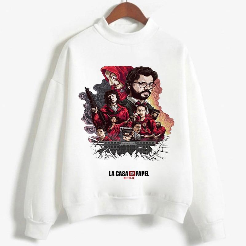 2020 Hoodies Sweatshirts Men La Casa De Papel Funny Movie Money Heist Hoodie For Women Boy Long Sleeve House Of Paper Unisex Top