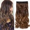 S-noilite, 47 цветов, 24 дюйма, длинные волнистые женские удлинители синтетических волос с клипсой, черно-коричневые накладные Заколки для женщин