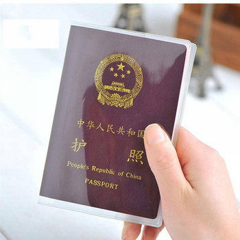 цена на PVC Passport Cover Transparent Passport Cover Case Clear Waterproof Travel Document Bag Passport Holder Free Shipping
