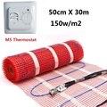 Наборы нагревательных ковриков для теплого пола 15 кв. М 150 Вт/кв. М 50 см x 30 м для плавки снега под плиткой с термостатом